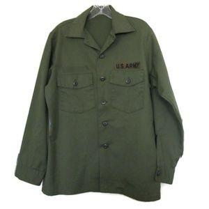 vintage green army jacket size small uniform